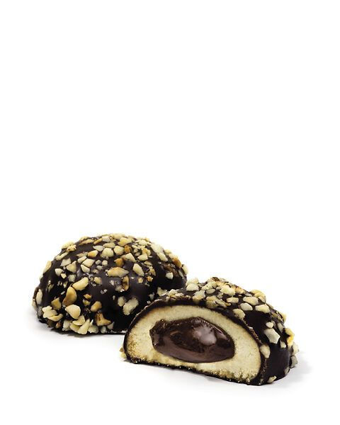 Cuori con crema di Cacao e Nocciola ricoperti di Cioccolato Fondente