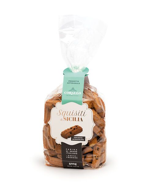 Squisiti di Sicilia con gocce di cioccolato